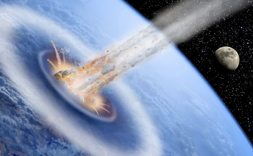 Part 3 – The first 'air strikes'. Earth is smashed with mountain-sized asteroids.